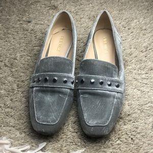 Nine West light grey loafers